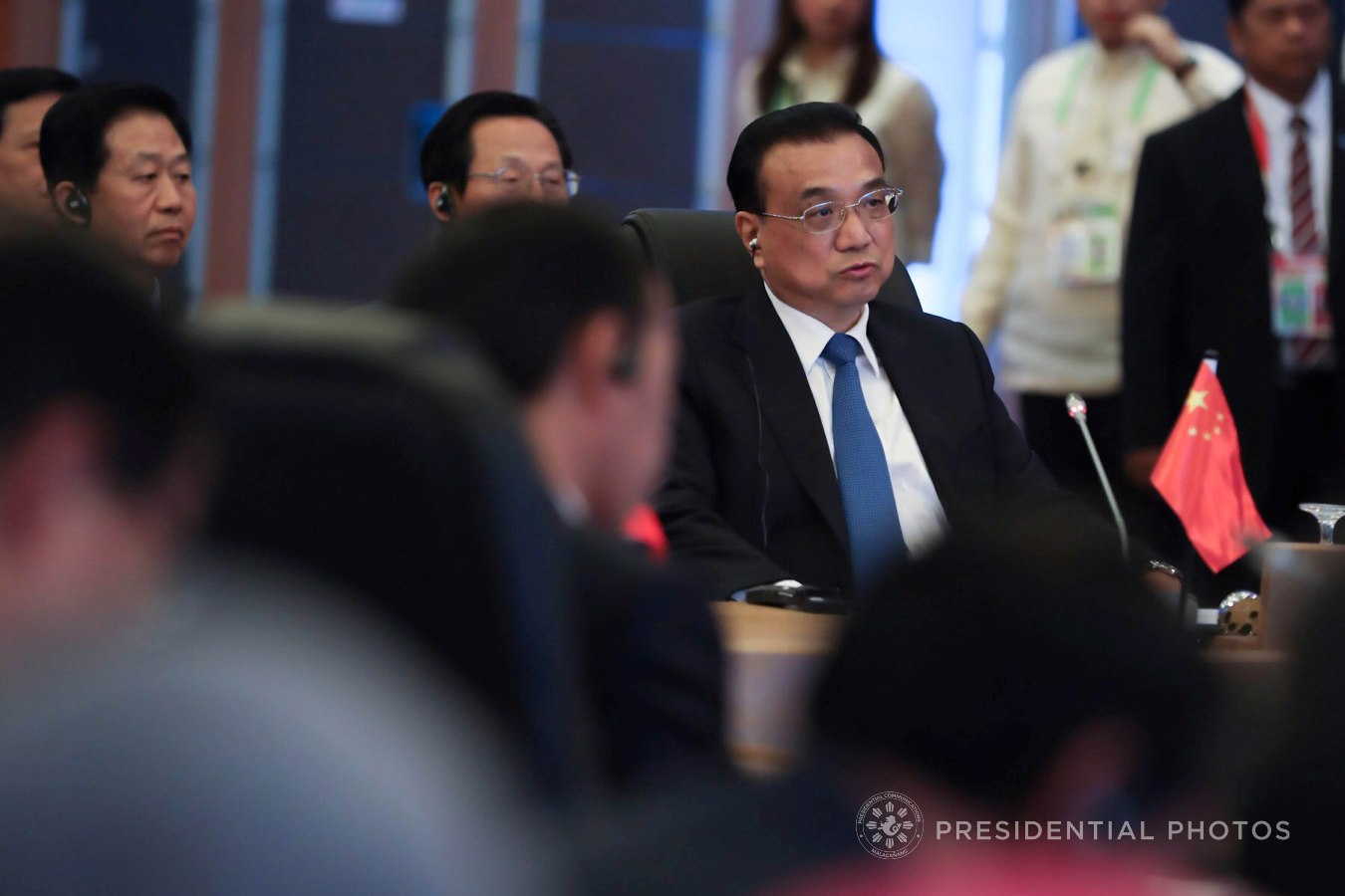 People's Republic of China Premier Li Keqiang, in his opening remarks during the 20th Association of Southeast Asian Nations (ASEAN)-China Summit at the Philippine International Convention Center in Pasay City on November 13, 2017, declares that the ASEAN has long been one of their country's top priorities when it comes to fostering partnership and diplomacy. ALBERT ALCAIN/PRESIDENTIAL PHOTO