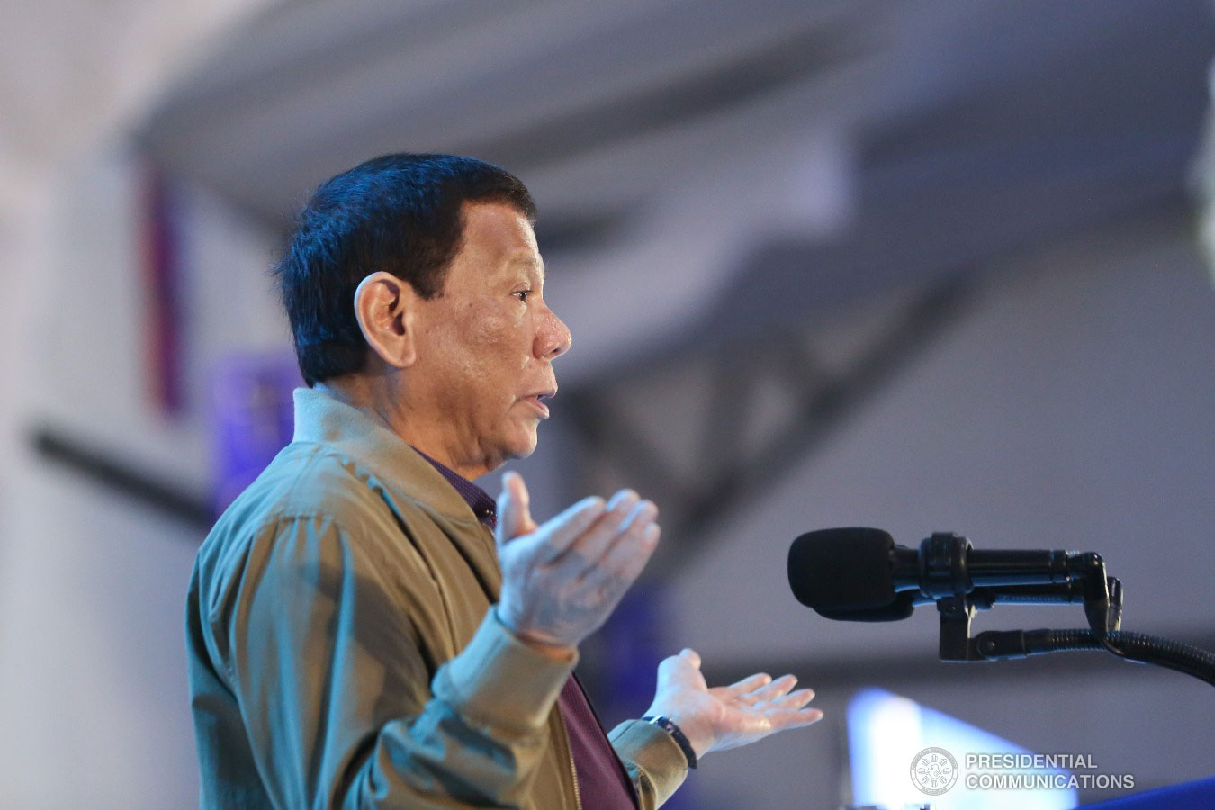 President Rodrigo Roa Duterte delivers his message during the birthday celebration of former Presidential Adviser on Political Affairs Atty. Francis Tolentino held at the Tagaytay International Convention Center in Tagaytay City, Cavite on January 3, 2019. ALFRED FRIAS/PRESIDENTIAL PHOTO