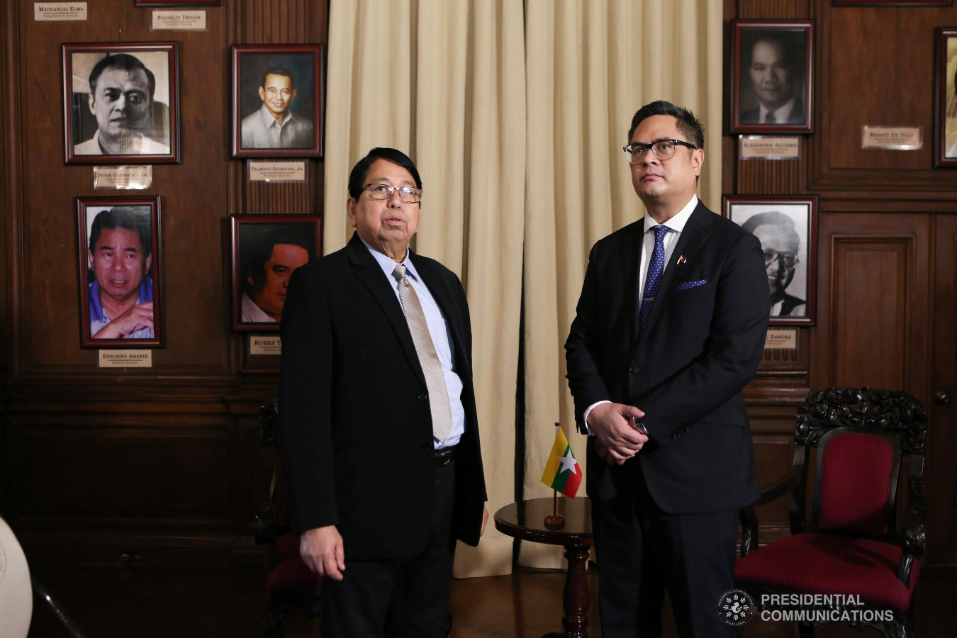Presidential Communications Operations Office (PCOO) Secretary Martin Andanar takes Myanmar Minister of Information Pe Myint on a tour of the Malacañan   Museum on January 25, 2019. ALBERT ALCAIN/PRESIDENTIAL PHOTO