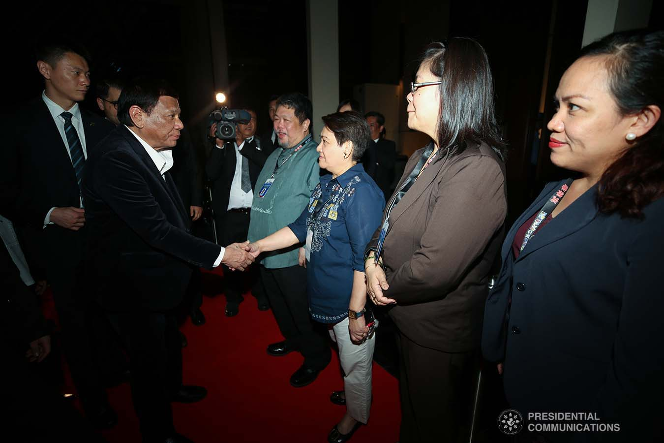 President Rodrigo Roa Duterte receives a warm welcome upon his arrival at a hotel in Guangdong Province, People's Republic of China on August 30, 2019. SIMEON CELI JR./PRESIDENTIAL PHOTO