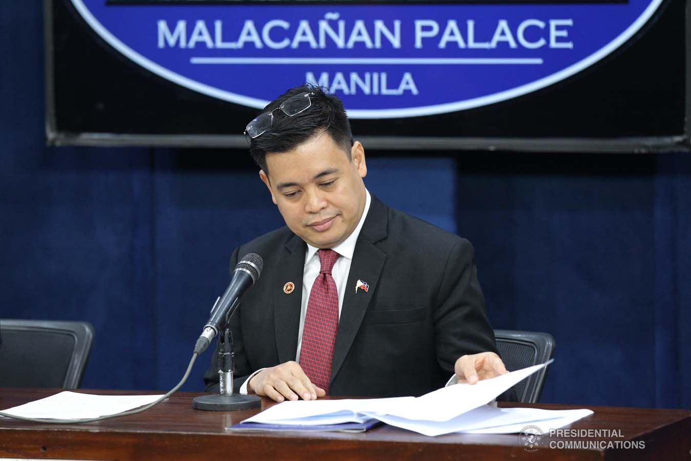 Chief of Presidential Protocol and Presidential Assistant on Foreign Affairs Robert Borje provides details on President Rodrigo Roa Duterte's visit to Russia during a press briefing at the New Executive Building in Malacañang on September 27, 2019. YANCY LIM/PRESIDENTIAL PHOTO