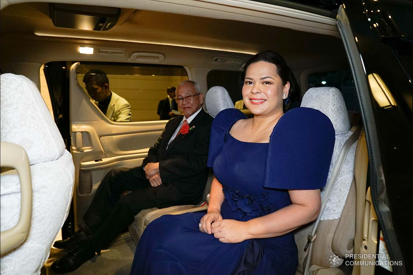 President Rodrigo Roa Duterte's daughter, Davao City Mayor Sara Duterte-Carpio, prepares to depart from the Hotel New Otani in Tokyo, Japan after attending the state banquet hosted by Prime Minister Shinzo Abe on October 23, 2019. KING RODRIGUEZ/PRESIDENTIAL PHOTO