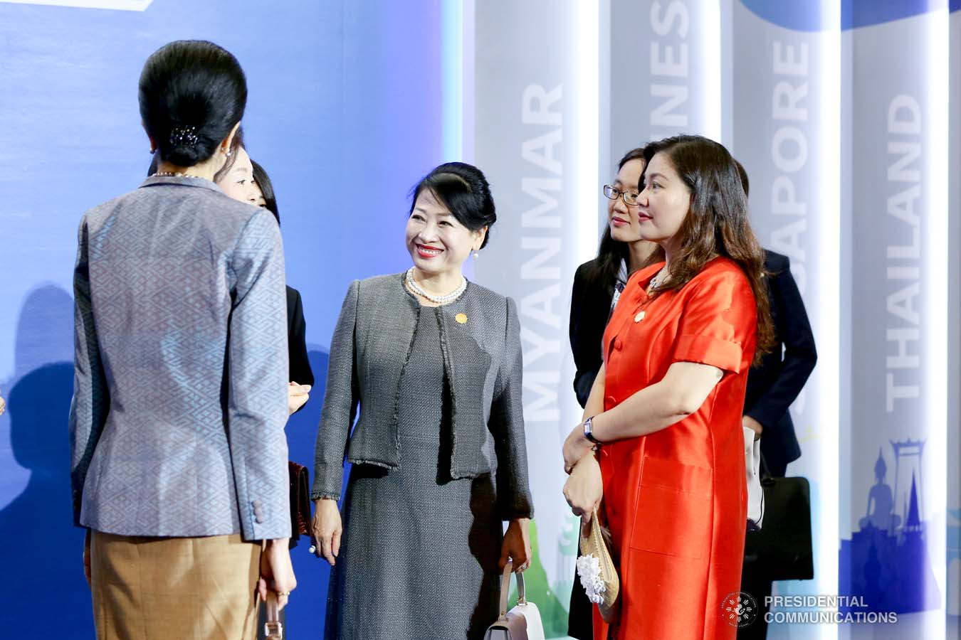 President Rodrigo Roa Duterte's partner Cielito Avanceña joins the spouses of the leaders from the Association of Southeast Asian Nations (ASEAN) member countries and Republic of Korea (ROK) President Moon Jae-in during the ASEAN-ROK K-Beauty Festival at the Busan Exhibition and Convention Center on November 26, 2019. RICHARD MADELO/PRESIDENTIAL PHOTO