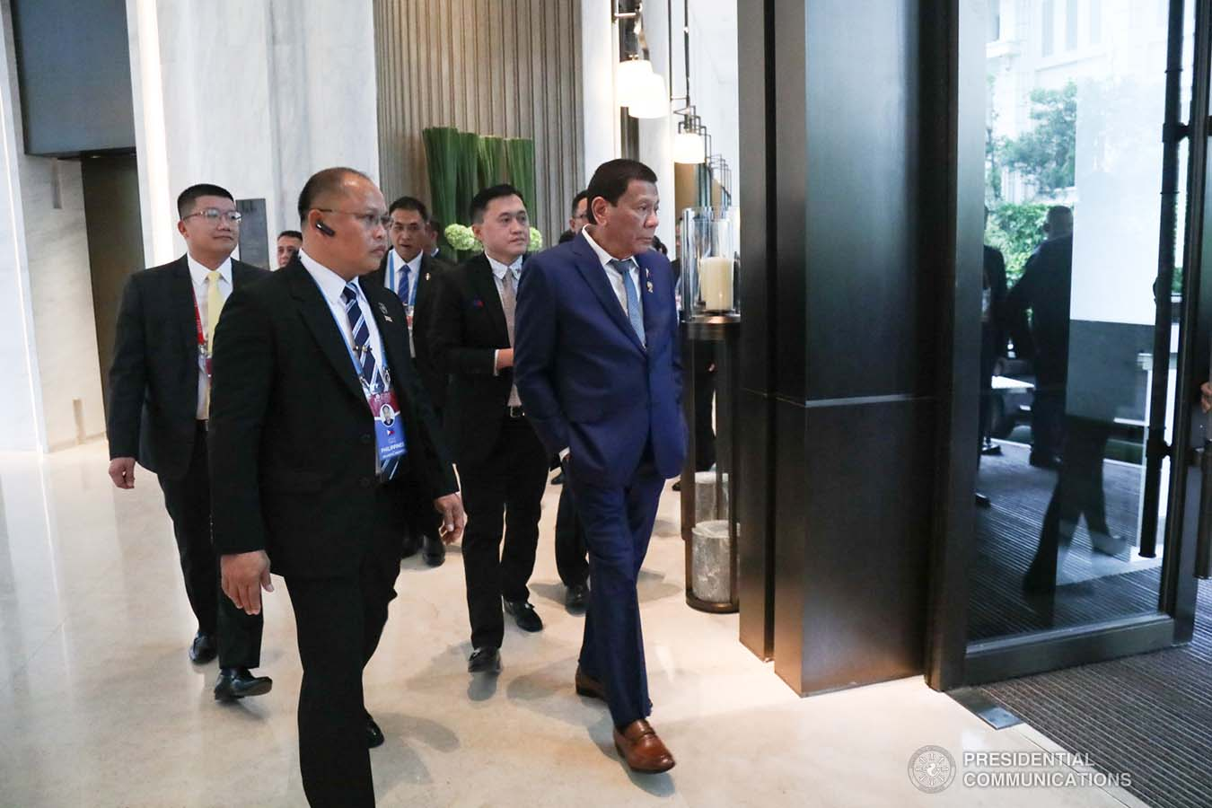 President Rodrigo Roa Duterte prepares to head over to Impact Exhibition and Convention Center in Nonthaburi, Thailand for his attendance to the 35th Association of Southeast Asian Nations (ASEAN) Summit Plenary on November 2, 2019. AVITO DALAN/PRESIDENTIAL PHOTO