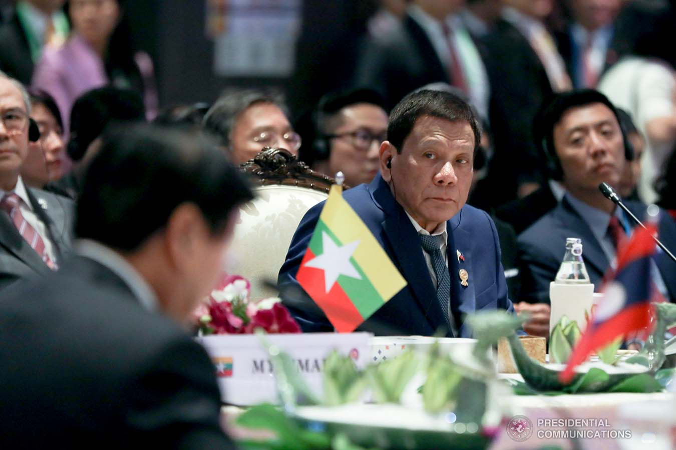President Rodrigo Roa Duterte joins other leaders from the Association of Southeast Asian Nations (ASEAN) member countries during the 35th ASEAN Summit Plenary at Impact Exhibition and Convention Center in Nonthaburi, Thailand on November 2, 2019. TOTO LOZANO/PRESIDENTIAL PHOTO