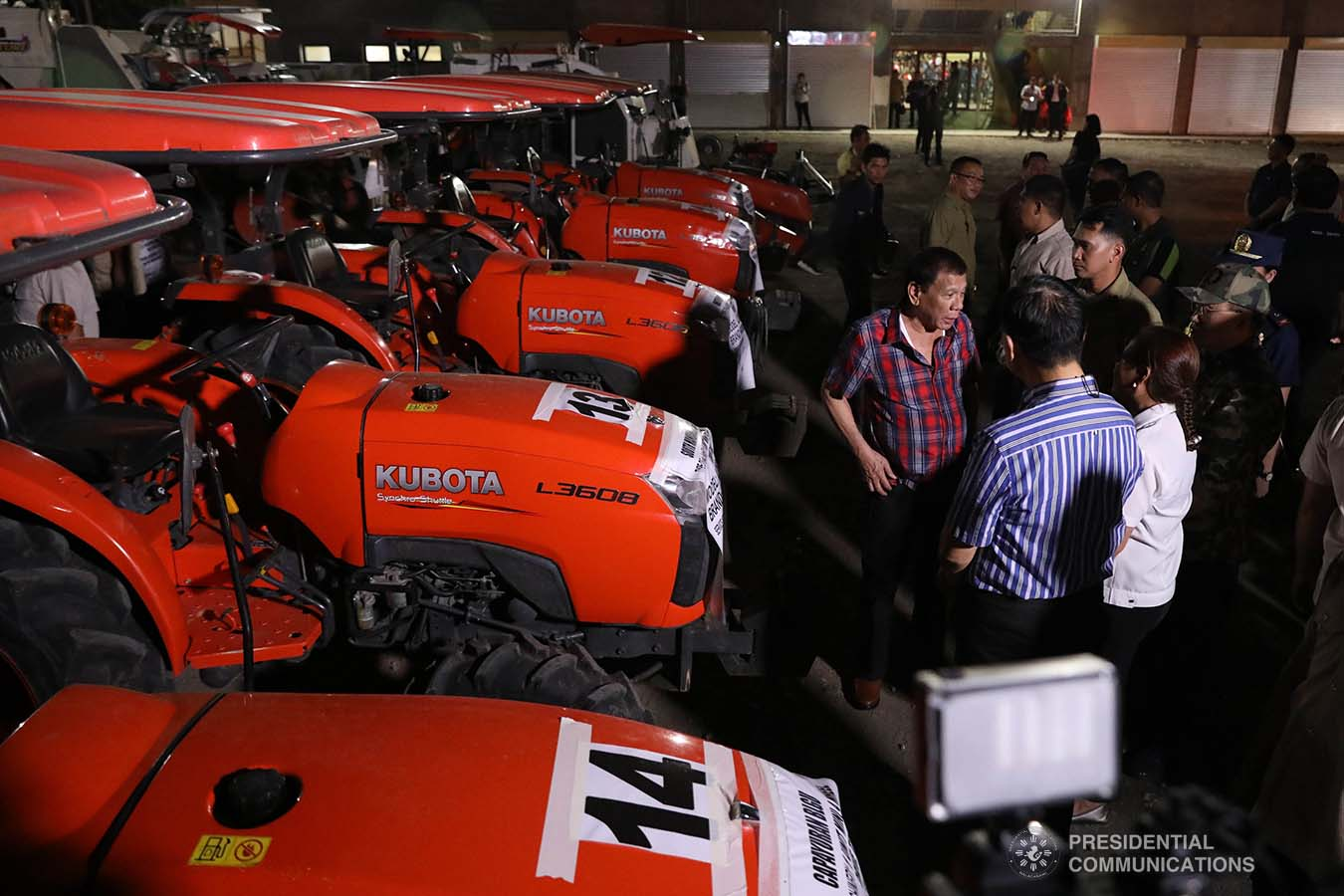 President Rodrigo Roa Duterte inspects the farm machineries during the ceremonial distribution of agricultural assistance to farmers of Region 12 at the Pigcawayan Municipal Gymnasium in Cotabato on January 10, 2020. ROBINSON NIÑAL JR./PRESIDENTIAL PHOTO