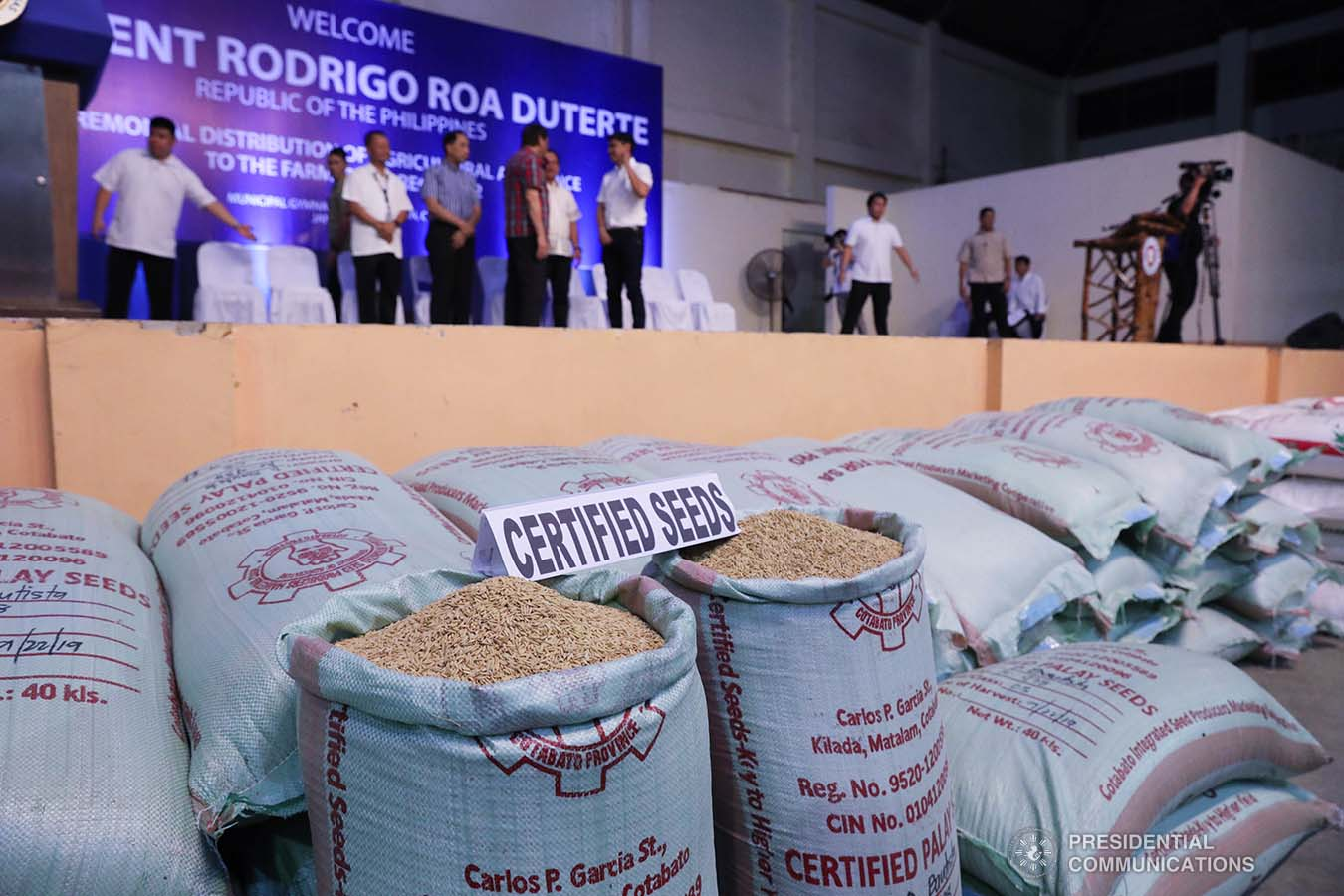 Photo shows some of the farm supplies turned over to the farmers of Region 12 during the ceremonial distribution of agricultural assistance at the Pigcawayan Municipal Gymnasium in Cotabato on January 10, 2020. President Rodrigo Roa Duterte led the ceremonial distribution of assistance. ROBINSON NIÑAL JR./PRESIDENTIAL PHOTO