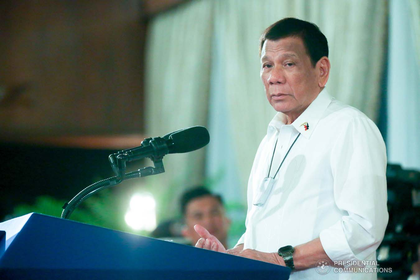President Rodrigo Roa Duterte delivers a speech during the oath-taking of the new officials of the National Commission for Culture and the Arts (NCCA) and presentation of the 12th Ani ng Dangal awardees at the Malacañan Palace on February 26, 2020. SIMEON CELI JR./PRESIDENTIAL PHOTO