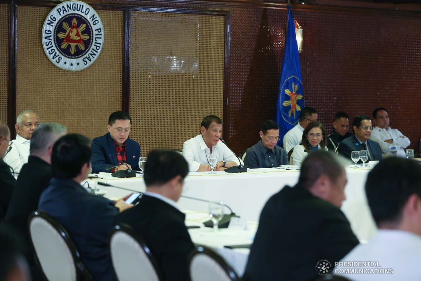 President Rodrigo Roa Duterte answers queries from members of the media during a briefing on the 2019 novel Coronavirus (2019-nCoV) at the Malacañan Palace on February 3, 2020. TOTO LOZANO/PRESIDENTIAL PHOTO