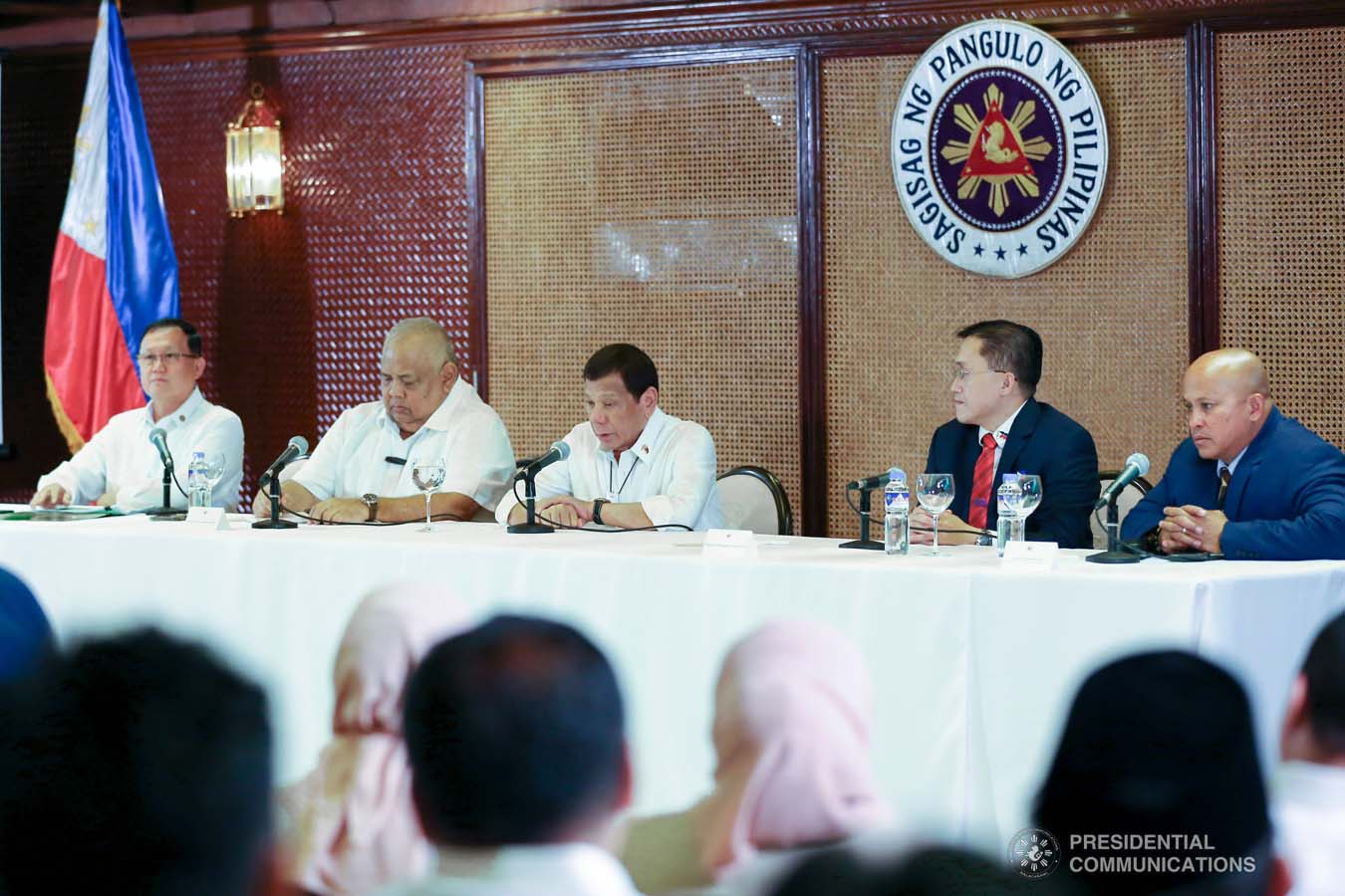 President Rodrigo Roa Duterte holds a meeting to discuss the updates on the Marawi Rehabilitation efforts at the Malacañan Palace on March 4, 2020. ALFRED FRIAS/PRESIDENTIAL PHOTO