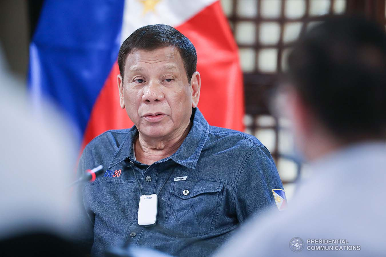 President Rodrigo Roa Duterte holds a meeting with members of the Inter-Agency Task Force on the Emerging Infectious Diseases (IATF-EID) at the Malago Clubhouse in Malacañang on May 11, 2020. ACE MORANDANTE/PRESIDENTIAL PHOTO