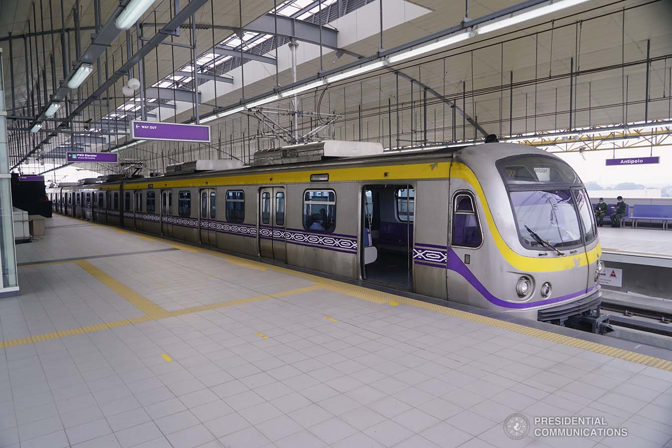 Photo of the newly built Light Rail Transit (LRT) Line 2 East Extension Project in Antipolo City, Rizal.  President Rodrigo Roa Duterte led the inauguration ceremony of the LRT 2 Antipolo Station on July 1, 2021. ARMAN BAYLON/ PRESIDENTIAL PHOTO